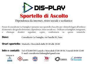 Sportello ascolto Dis-play